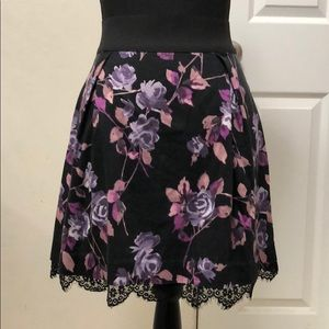 Rose Purple Lace Skirt - Elle